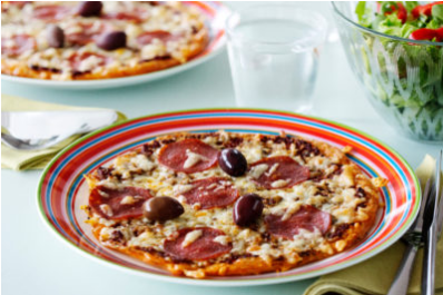 pizza low-carb peperoni