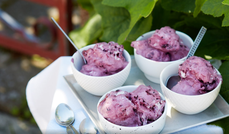 foto sorvete blueberry low-carb