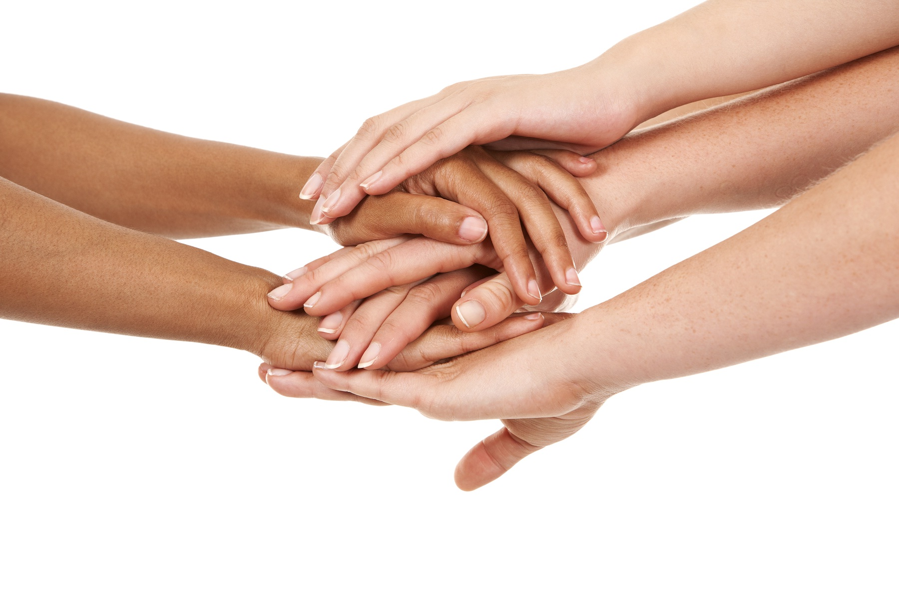 imagem mãos juntas